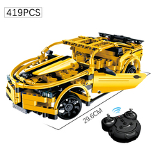419+PCS Revolt RC Series bumblebee Sports Car Model Building Block Toys Technic Racing Brick For Children