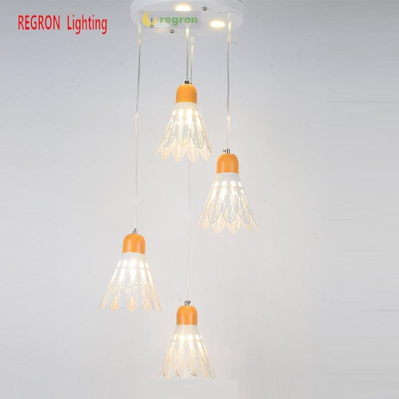 Nouveauté badminton lampe chambre salle à manger Suspension lumières 4 pièces E27 Loft Led Suspension Luminaria pour chambre d'enfant café