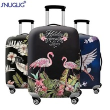 Hot Flamingo Series Luggage Protective Cover Men's Women Elastic Suitcase Travel Case Famale Trolley Dust Rain Bags Accessories