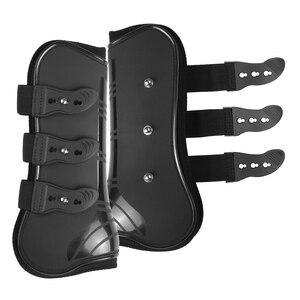 Image 2 - 4 PCS Front Hind Leg Boots Adjustable Horse Leg Boots Equine Front Hind Leg Guard Equestrian Tendon Protection Horse Hock Brace