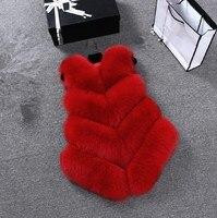 2018 Women Winter Autumn Faux Fur Vest Thick Body Warmer Female Sleeveless Jacket