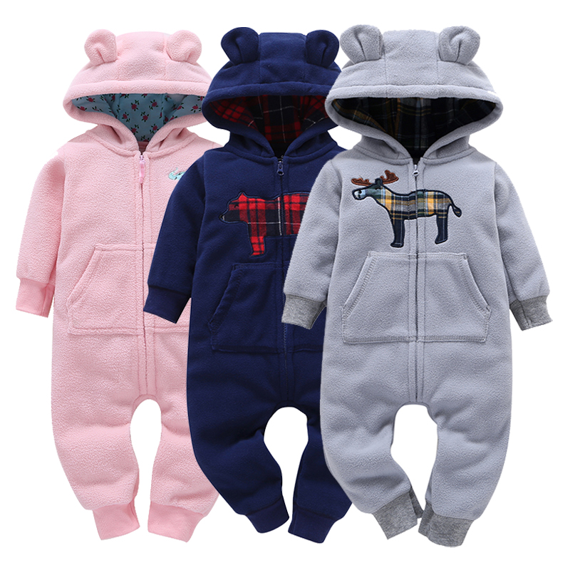 Baby Clothes Girls Baby Clothing Baby Fleece Romper Overall Warm Cartoon Bear Costume Infant Girl Jumpsuit Newborn Baby Outfits