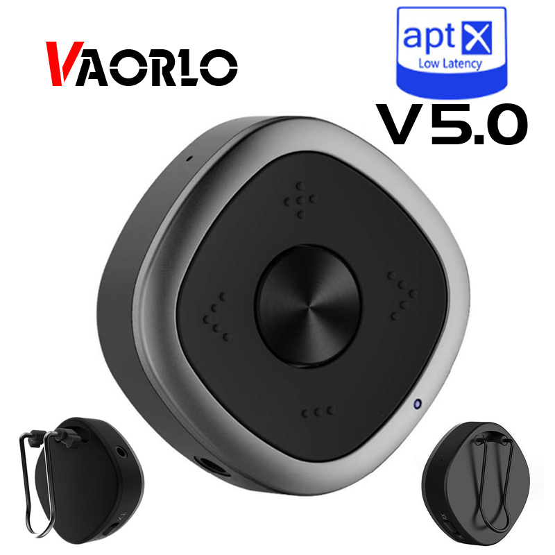 BTI-031 Bluetooth 5.0 multipoint Transmitter Receiver APTX HD Low Latency 3.5mm Stereo Music Wireless Bluetooth Adapter CSR8675 bluetooth