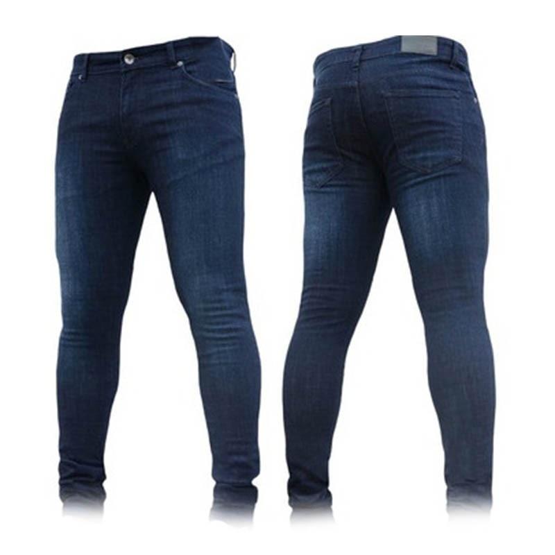 Zollrfea Jeans Men Casual Stretch Trousers Summer Fashion Solid Male Black Skinny Jeans Tight Denim Pants Plus Size 3XL CB0015