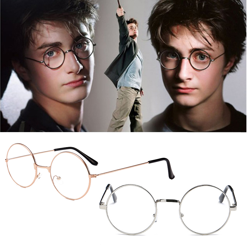 Round Spectacle Reading Glasses For Harry Metal Frame Glasses Plain Mirror Transparent Glasses Men Women Reading Glasses