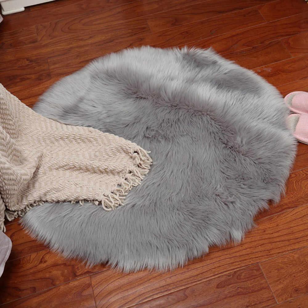 כבש שטיח כיסא כיסוי שינה מחצלת מלאכותי צמר חם שעיר שטיח מושב צמר חם Textil פרווה שטיחים באזור 27