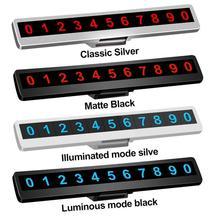 Car Interior Parking Phone Number Plate Luminous Night Temporary Hidden Resistant High Temperature