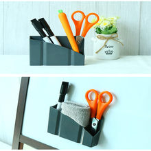 New Home Storage Boxes Magnetic Plastic Storage Organiser Drawer Box Blackboard Chalk Pens Desk Storage(China)