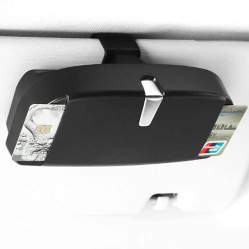 Чехол для автомобильных очков, органайзер, держатель для солнцезащитных очков, держатель для хранения, солнцезащитный козырек, зажим для хранения, сумка для карт, автомобильные аксессуары для интерьера