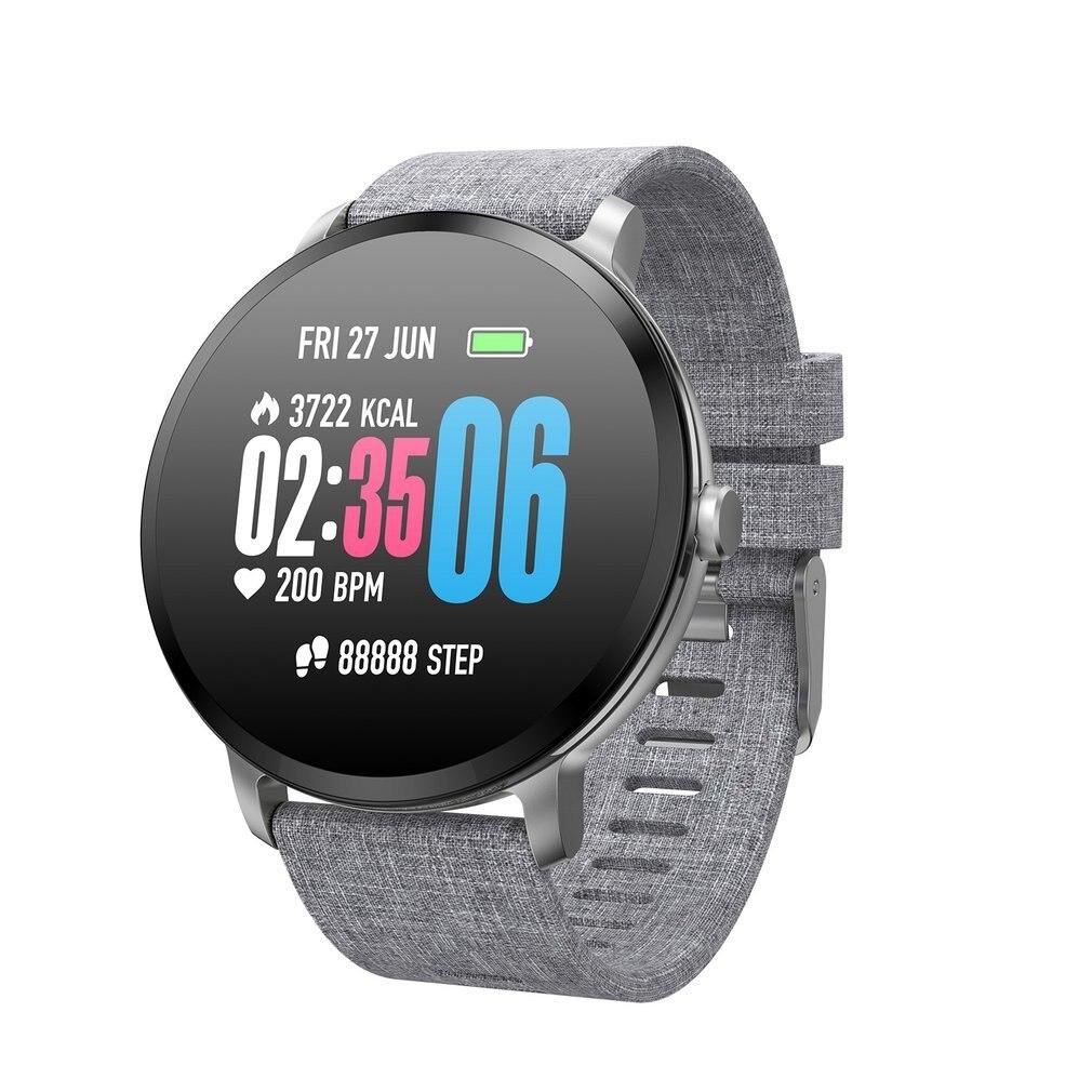 V11 Bracelet intelligent Fitness Bracelet fréquence cardiaque grand écran tactile Message fréquence cardiaque Bracelet Smartband