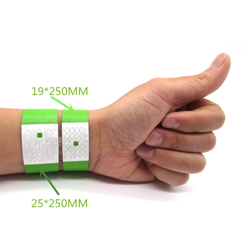 200 pack color Printing Paper Wristbands For Events entrance ticket Wristbands for Bar private Party competition Tyvek bracelet in Party Direction Signs from Home Garden