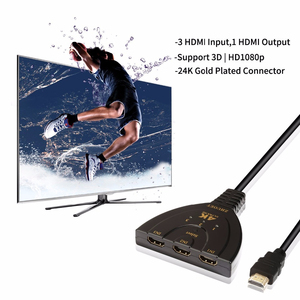 Image 4 - 3 Port HDMI Splitter Adapter Cable 1.4b 4K 2K 1080P Switcher HDMI Switch 3 in 1 out Port Hub for HDTV Xbox PS3 PS4