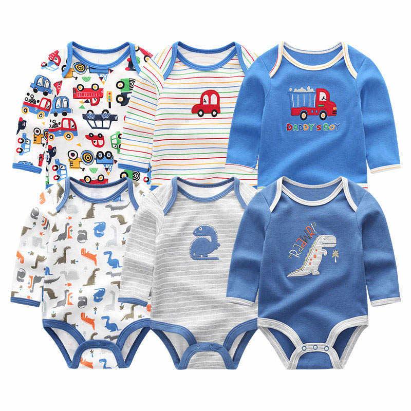 2019 6 STUKS Baby Kleding Eenhoorn Bodysuits 0-12 M Roupas de bebe Baby Boy Kleding Streep Jumpsuit Pasgeboren katoenen Baby Meisje Kleding
