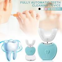 Portable 360 Degree Electric Toothbrush Smart Full automatic Variable frequency Teeth Cold Light Whitening USB Charging
