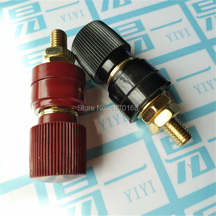 2 Pcs Plastic Shell M10 Male Threaded Diameter Binding Post Terminal 10MM
