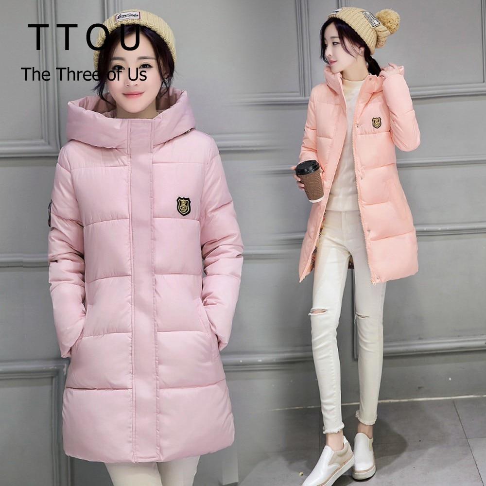 TTOU Long Parkas Female Women Winter Coat Thickening Cotton Winter Jacket Womens Outwear Parkas for Women Winter Outwear