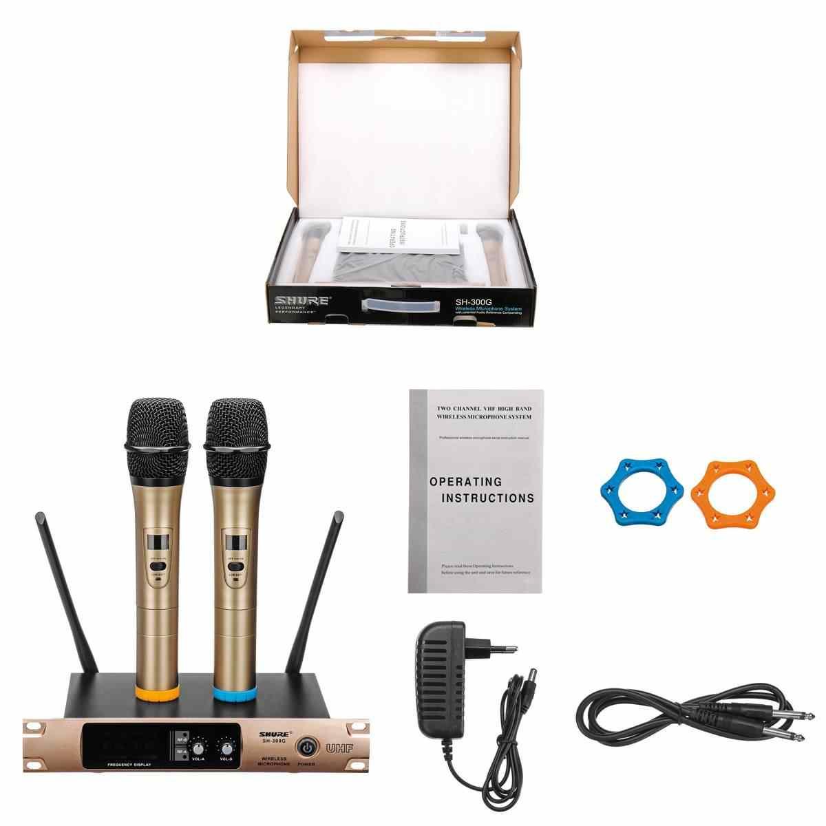 プロ UHF ワイヤレスマイクスピーカーハンドマイクカラオケマイクマイク音楽プレーヤー歌レコーダー KTV マイク
