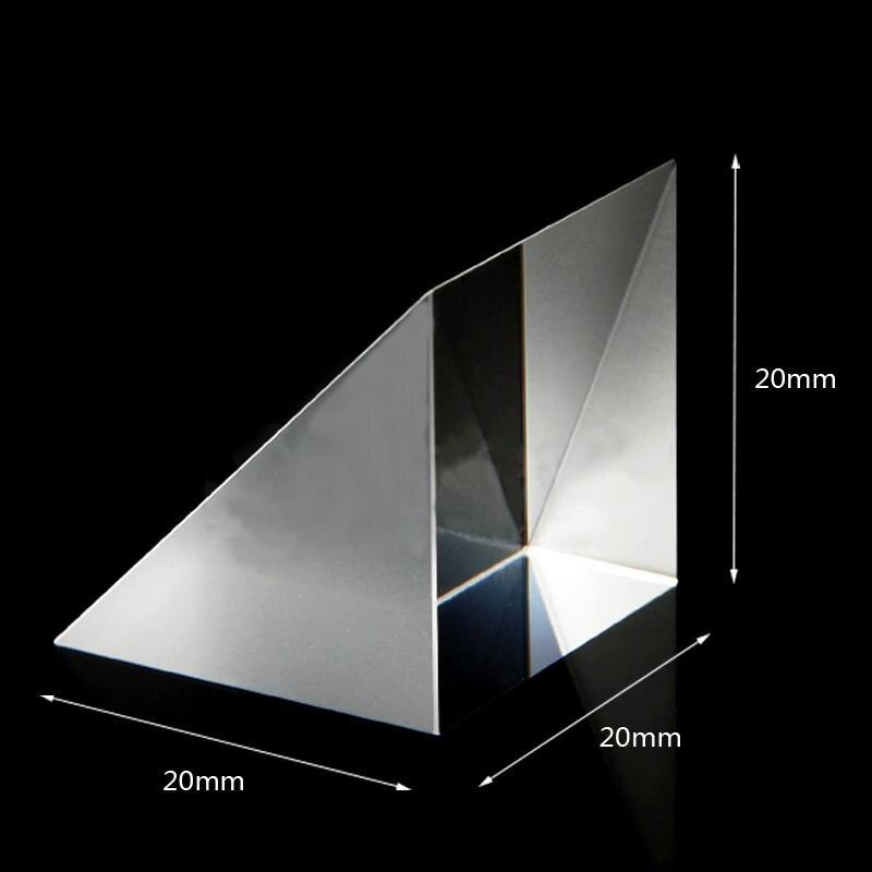 20x20x20 мм оптический Стекло классического стиля с треугольной lsosceles под прямым углом K9 призмы для очистки объектива