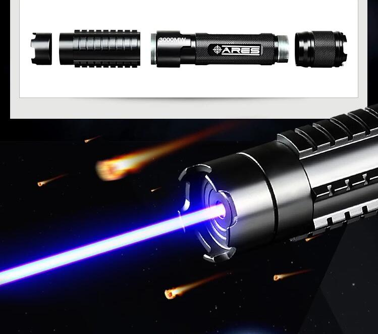 AAA Most Powerful 200000m 2000w 450nm Blue Laser Pointers Flashlight Burn Match Candle Lit Cigarette Wicked LAZER Torch Hunting