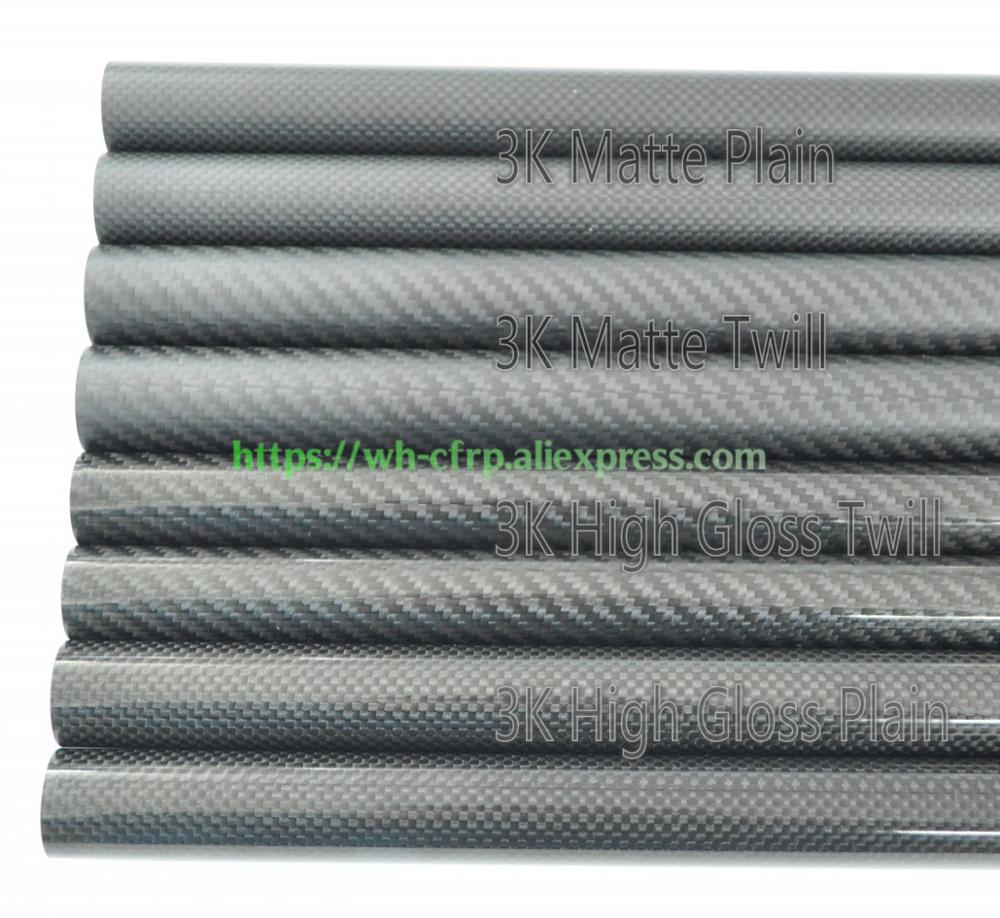 1pcs 3k Carbon Fiber Tube L X 500MM OD 10mm 11mm 12mm 13mm 14mm 15mm 16mm 17mm 18mm 19mm 20mm  with 100% full carbon, Japan