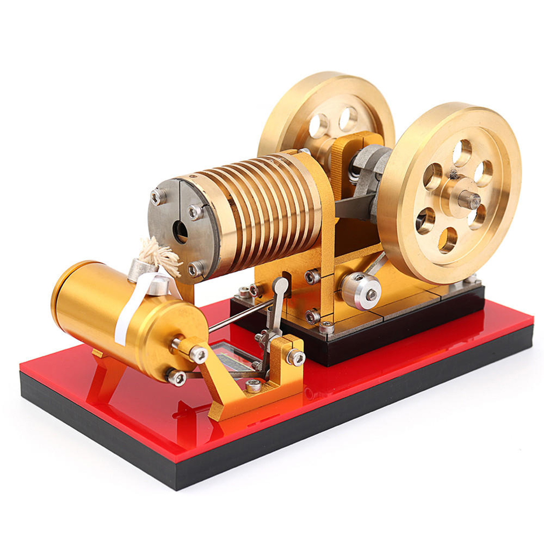 Suction Fire Type Stirling High-end Professional Edition Pure Copper Air Cylinder Heat Energy Engine Model Science Toy 2019Suction Fire Type Stirling High-end Professional Edition Pure Copper Air Cylinder Heat Energy Engine Model Science Toy 2019