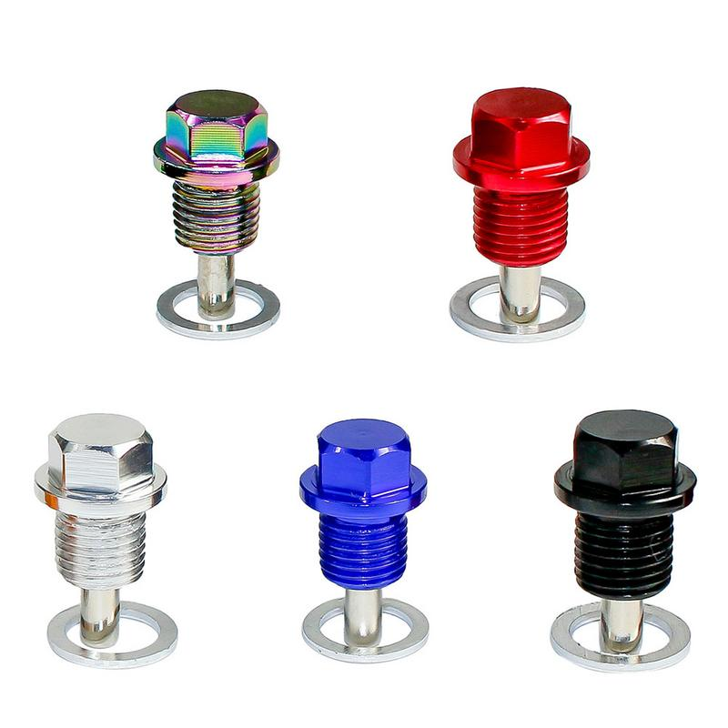 New 5 Colors Aluminum Car Modification Bolts M14*1.25 High Quality Magnetic Oil Sump Drain Plug With Washer Nut & Bolts