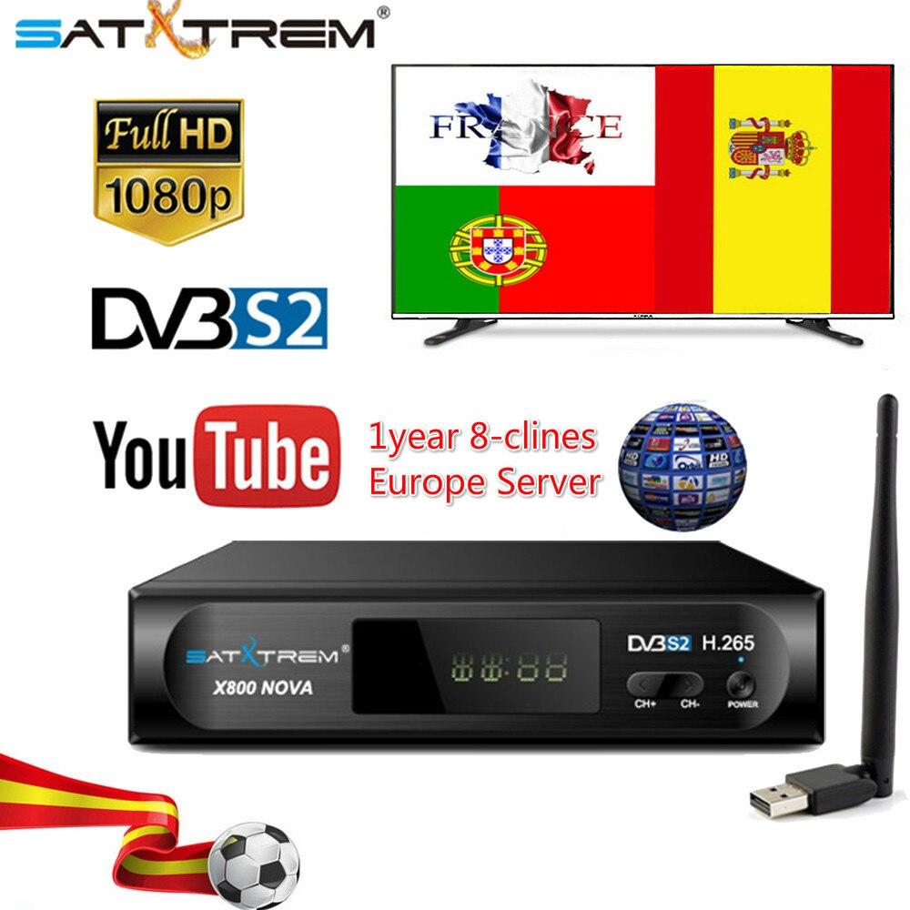 X800 Nova Dvb S2 Digital Satellite Tv Receiver Full 1080p H.265 Tv Decoder Box Support Iptv/8clines Top Box Pk V8 Nova