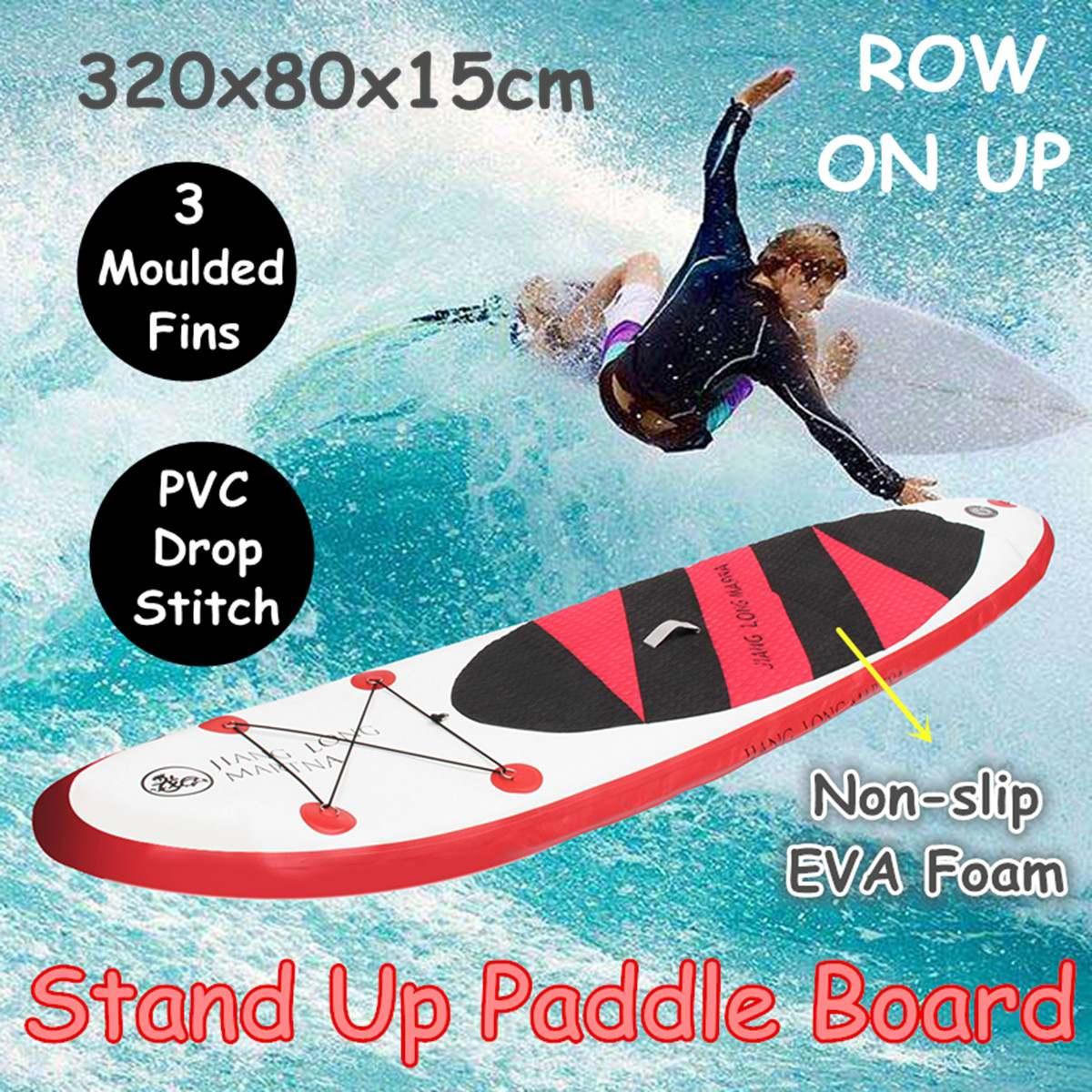320x80x15 cm pvc gonflable stand up Paddle Conseil Exercice Formation Planche De Surf Paddle Board D'eau Sport conseil sup Avec pompe manuelle