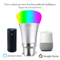 YHINT Intelligent WIFI Bulb Smart led Lamp Light work with Alexa Google Home Voice Control luminaire for bedroom E27 7W RGBW