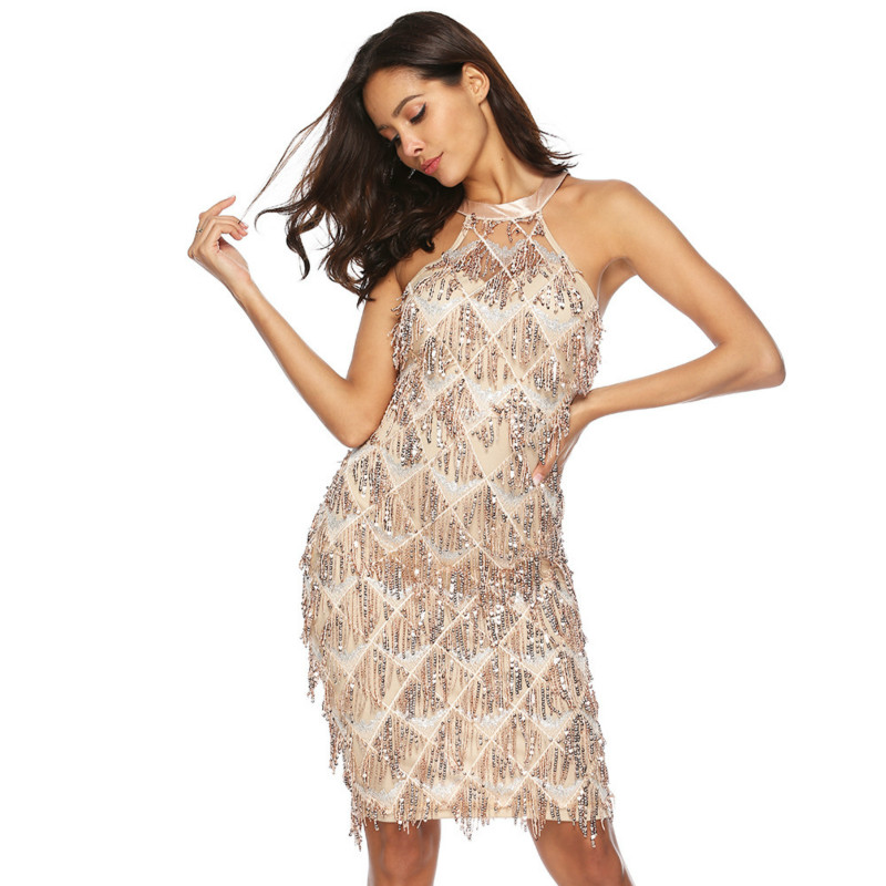 Detail Feedback Questions about MUXU Sleeveless fringe Sexy Party glitter  sequin dress fashion woman clothes patchwork Tassels vestidos jurken kleider  ... a3d7b31900cc