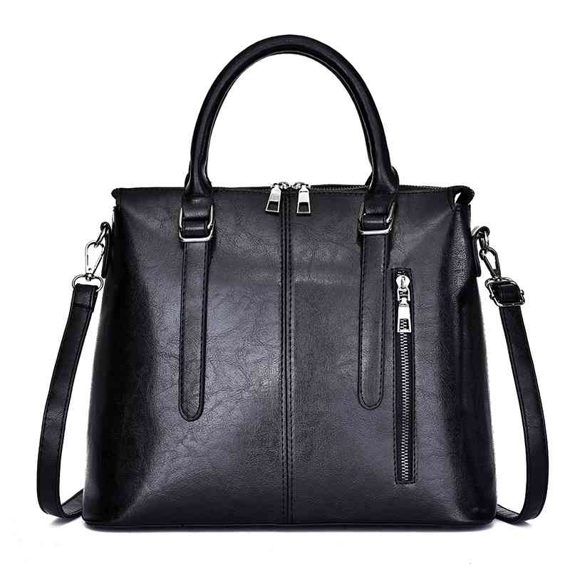 Women Bag Leather Casual Totes Fashion Top handle High Quality Designer Handbag Classic Simple Female Shoulder