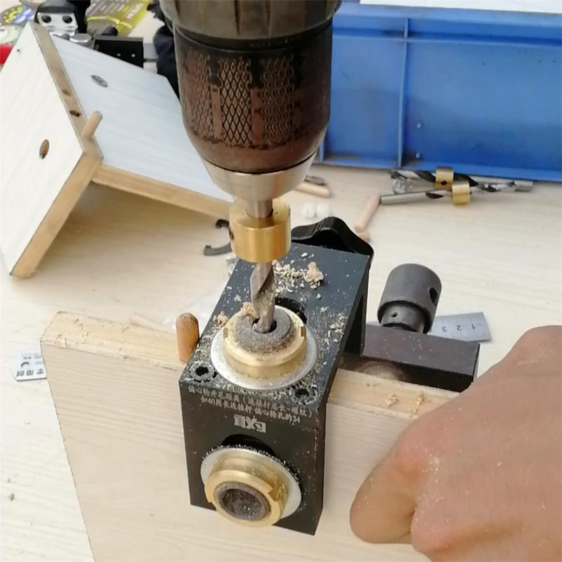 木工ドリルガイドセットロケータ木工ポケット穴位置パンチジグキット + ステップ掘削ビット木材ツールセット  グループ上の ツール からの 木材穴あけ機械 の中 2