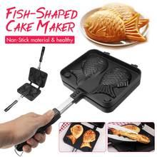 Домашняя японская форма для выпечки в форме рыбы Taiyaki с антипригарным покрытием, вафельница, 2 формы, инструменты для выпечки тортов