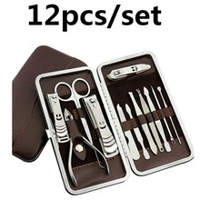 High-quality steel multi-function 12-piece decoration A tool sharp knife nail clippers hand tool sets