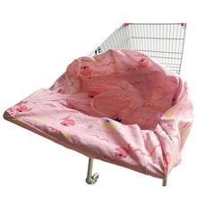 Простая портативная детская магазинная Тележка для покупок Подушка детский обеденный стул крышка двойного назначения