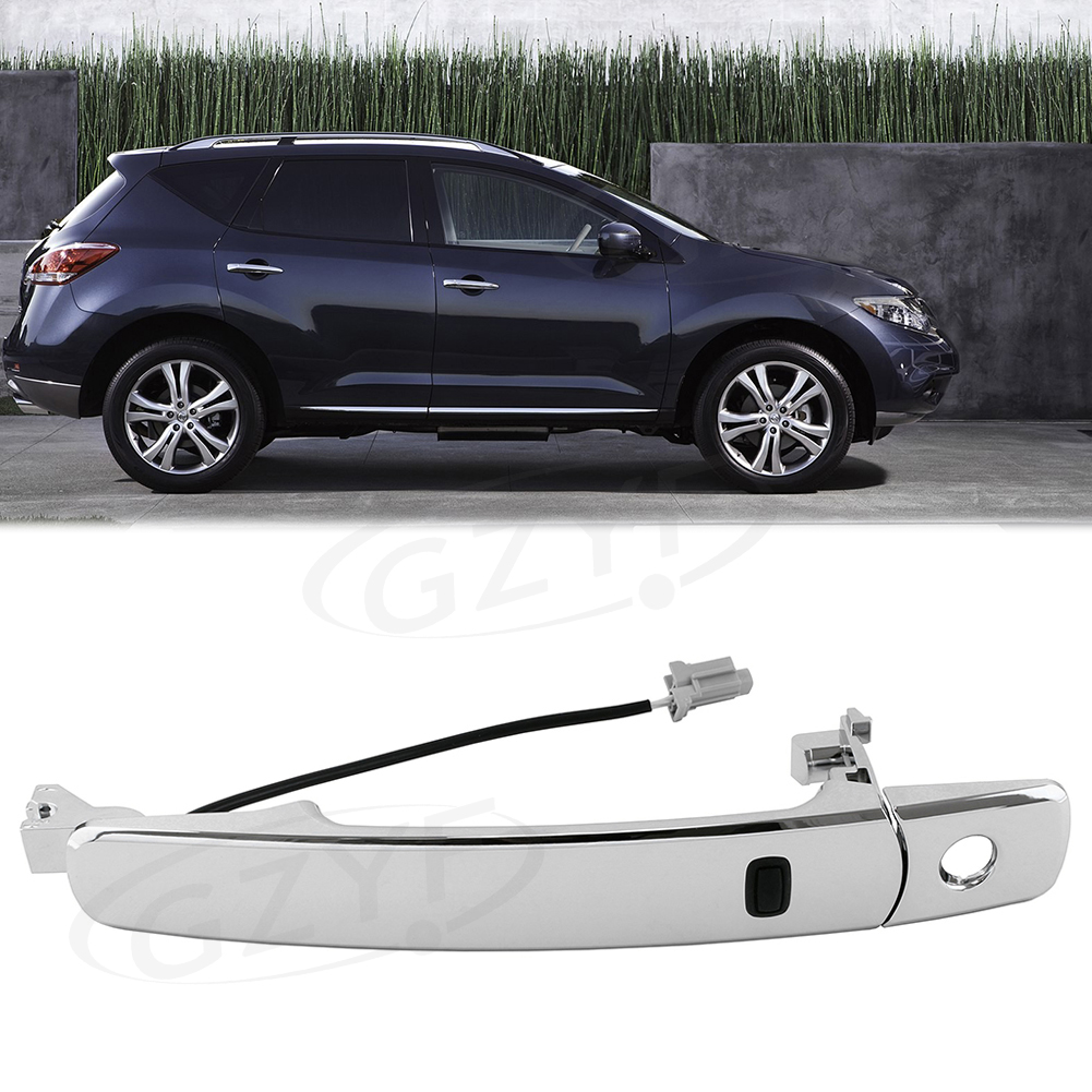 hight resolution of front driver side outside door handle smart entry for nissan murano 2003 2004 2005 2006 2007