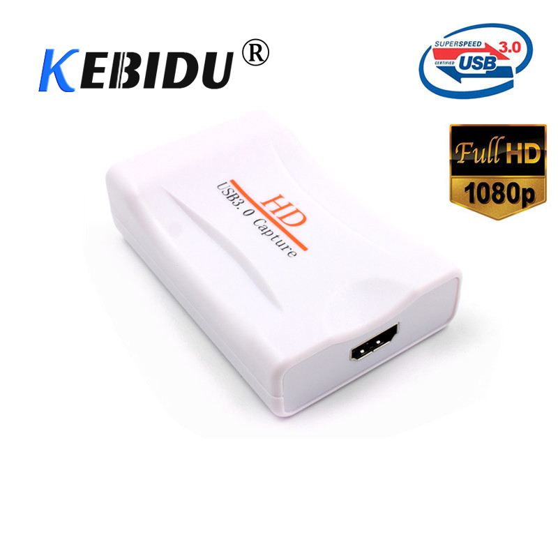 Kebidu New USB 3 0 HD Game Capture Live Streaming Record Logger Storage 1920X1080 60Hz with