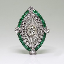 New Green Zircon Ring Bride Classic Wedding Engagement