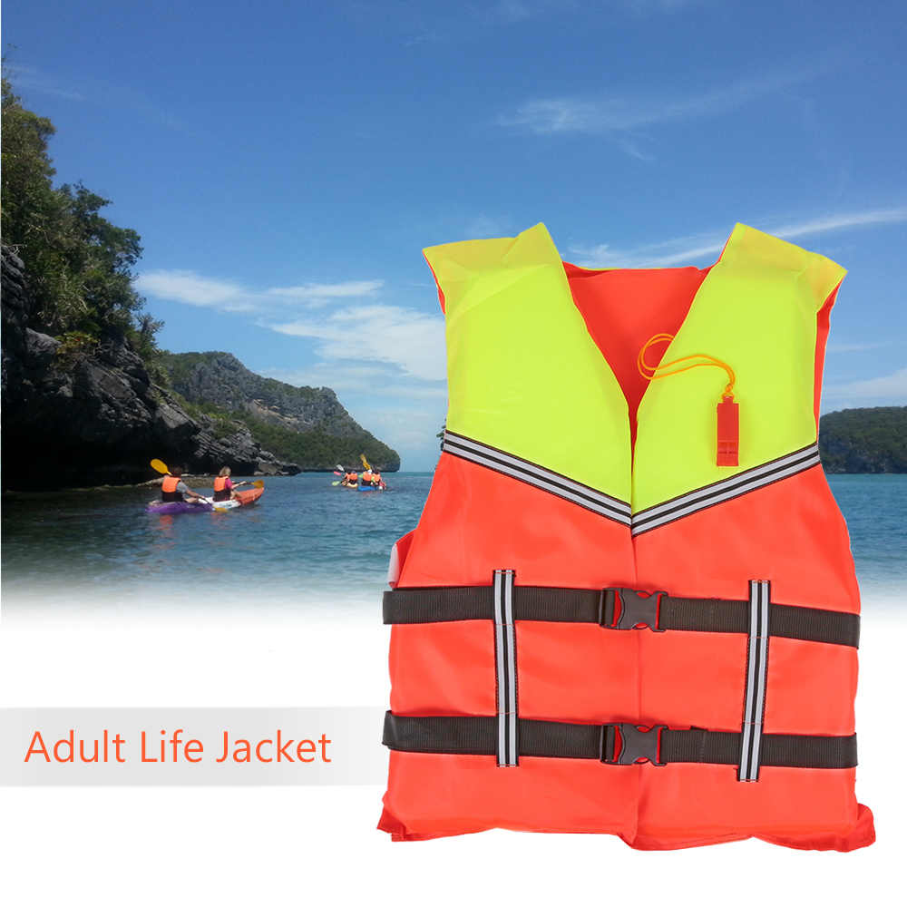 Adult Lifesaving Life Jacket Aid Boating Surfing Work Vest Swimming Marine Life Jackets Safety Survival Suit Outdoor Water Sport