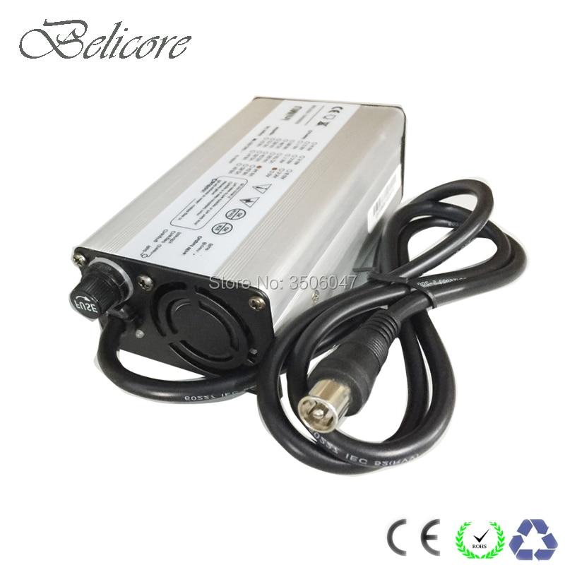 Carregador de bateria de lítio 29.4v, caixa de alumínio 54.6v 42v 58.8v 2a 2.5a 3a 4a para 24v bateria e-bike de 36v 48v 52v