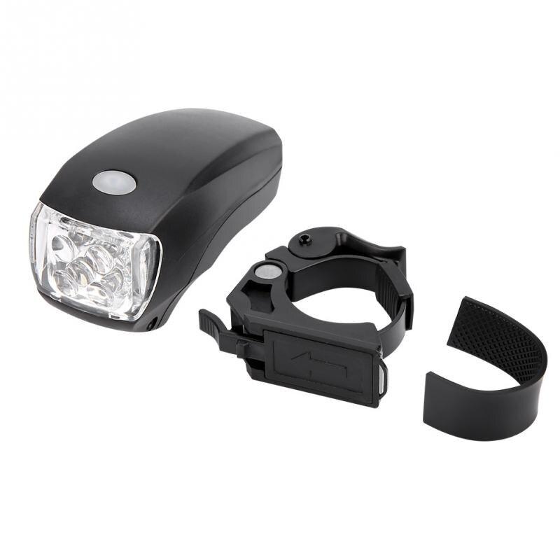 Bike Front Headlight Bike Waterproof LED Head Light Lamp Plastic Black Latest