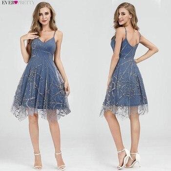 Sexy Prom Dresses Ever Pretty Deep V-Neck Sleeveless A-Line Cheap Women Formal Party Dresses Estidos De Fiesta De Noche 2020 4