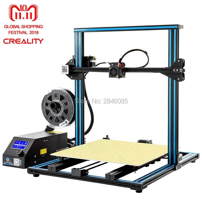 Creality 3D Mise à Jour Officielle Version CR-10 4S Double Z tige + reprendre imprimer après mise hors tension + Filament détecter/ capteur 3D Imprimante Kit
