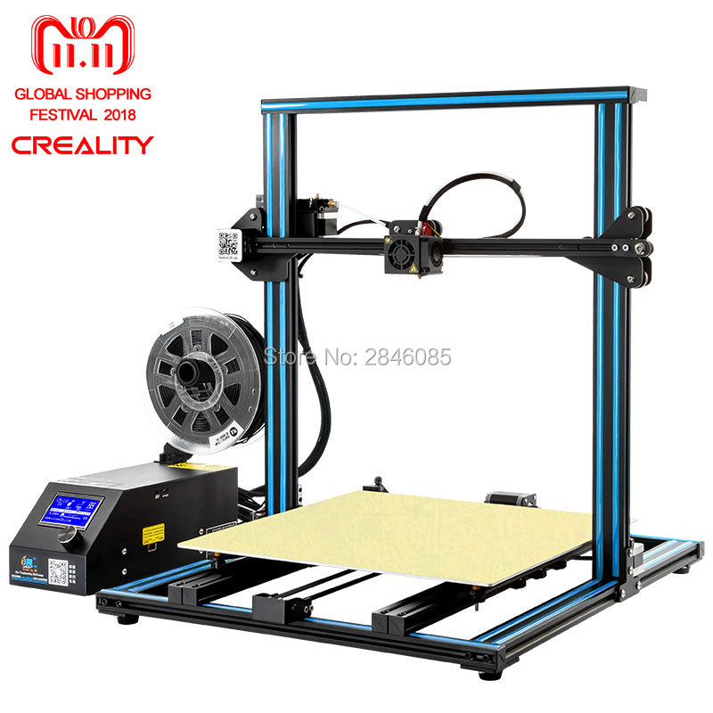Creality 3D Ufficiale Versione di Aggiornamento CR-10 4 s Dual Z rod + riprendere stampa dopo lo spegnimento + Filamento di rilevare /sensore di 3D Kit Stampante