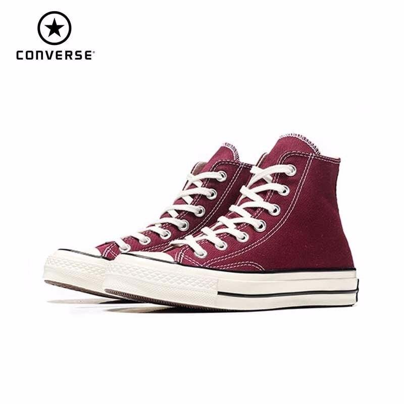 Converse nouvelles chaussures rouges originales unisexe hommes femmes baskets haute classique chaussures de skateboard 162051C
