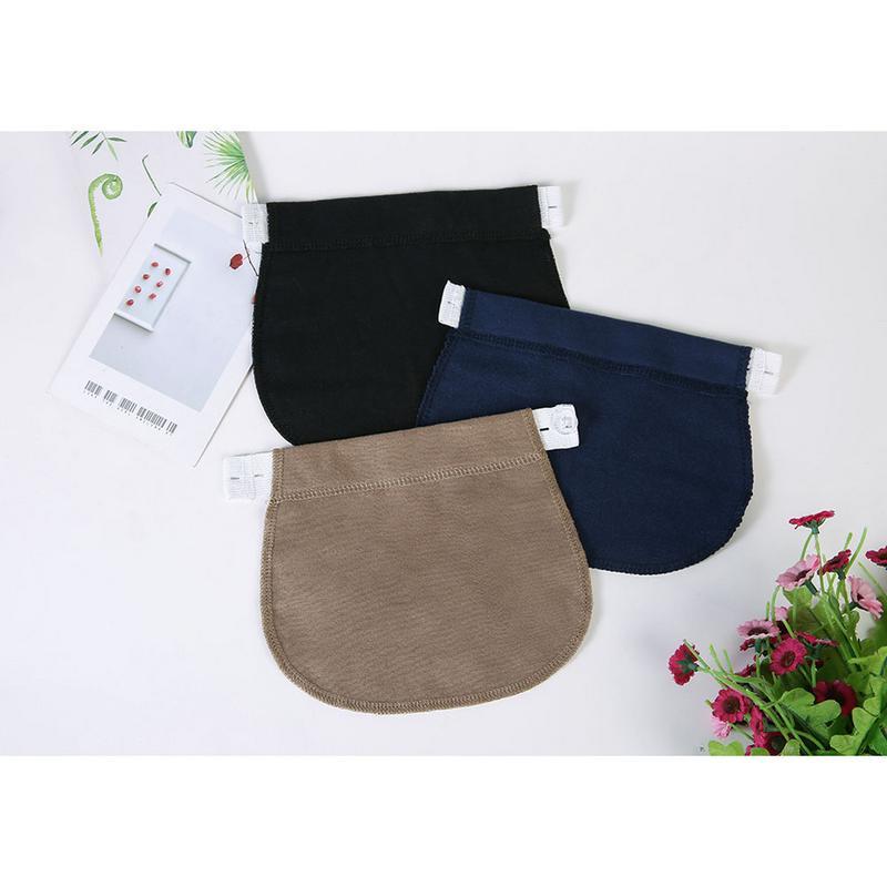 Women Pregnancy Adjustable Buckle Waistband Elastic Extender Soft Pants Belt Extension Buckle Button Lengthening Pregnant