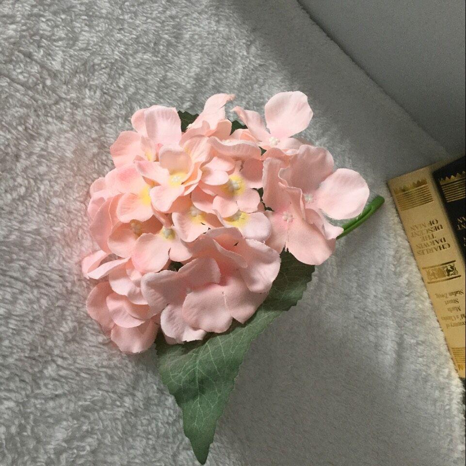 1pc 37cm umetna hortenzija umetno cvetje z zamrznjenimi velikimi - Prazniki in zabave - Fotografija 5