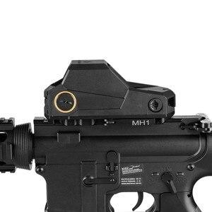 Image 2 - Polowanie MH1 taktyczny celownik z czerwoną kropką podwójny czujnik ruchu celownik refleksyjny największe pole widzenia noktowizor zakres Ak 47