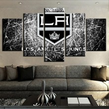 Hot Sell 5 Piece Canvas Art Ice Hockey Sport Logo Painting Wall Picture Home Decoration Living Room