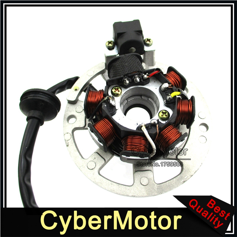 Image 5 - 5 Wires 7 Coils Ignition Magneto Stator For 2 Stroke Yamaha JOG Minarelli 50 50cc 90 90cc Scooter Alpha Sports ATV 1PE40QMB-in Motorbike Ingition from Automobiles & Motorcycles